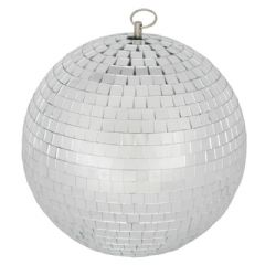 QTX 30cm Glass Mirror Ball Mirrorball DJ Disco Light Beam Lighting Effect 2.3kg